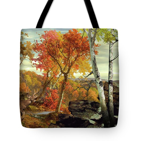 White-tailed Deer In The Poconos Tote Bag