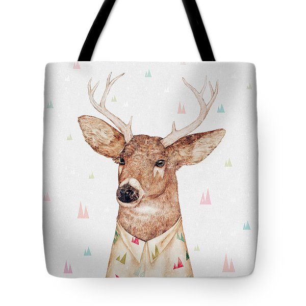 White Tailed Deer Square Tote Bag by Animal Crew