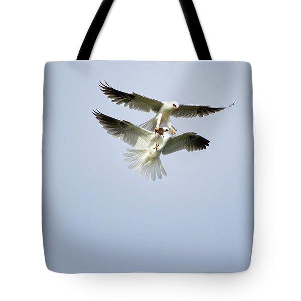 White-tailed Kites Food Exchange Tote Bag