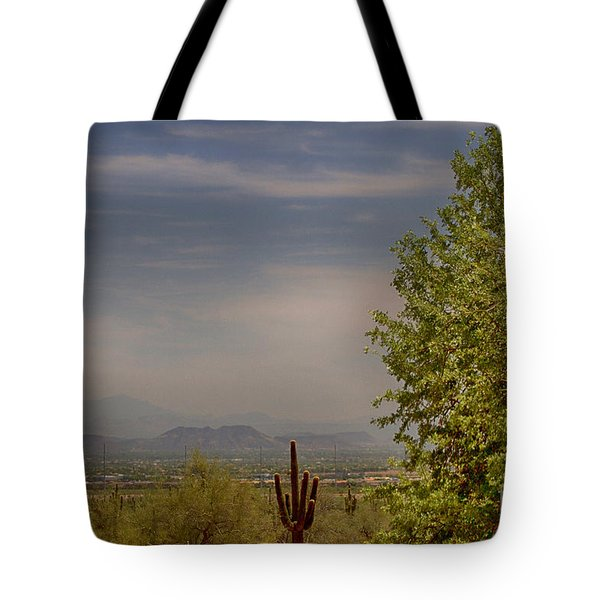 Tote Bag featuring the photograph White Tank Mountain Majesty 2 by Anne Rodkin