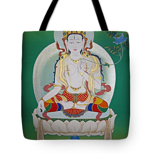 White Tara Tote Bag