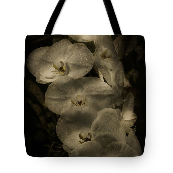 Tote Bag featuring the photograph White Textured Flowers by Ryan Photography