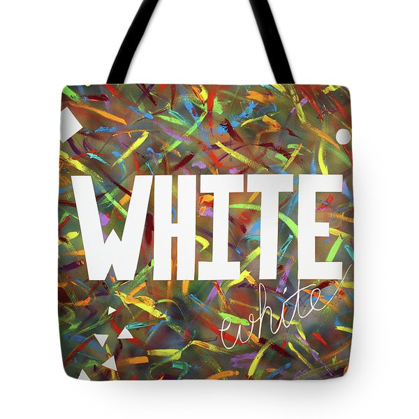 Tote Bag featuring the painting White by Thomas Blood