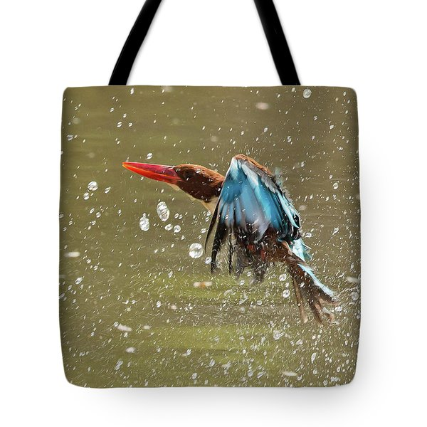 White-throated Kingfisher Tote Bag