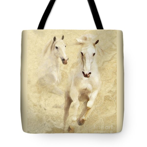 White Thunder Tote Bag
