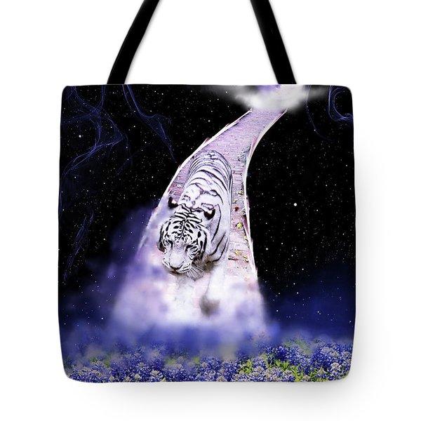 White Tiger Fantasy Tote Bag