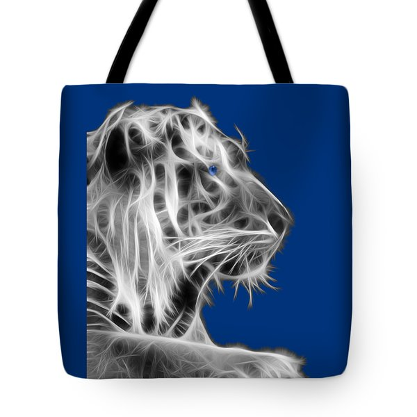 Tote Bag featuring the photograph White Tiger by Shane Bechler