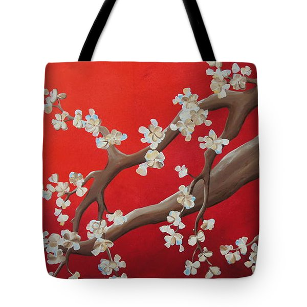 Cherry Blossom Painting Tote Bag