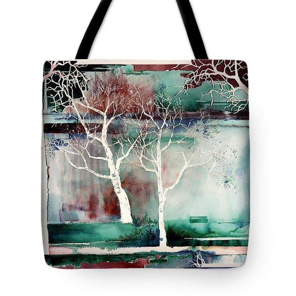White Trees Tote Bag