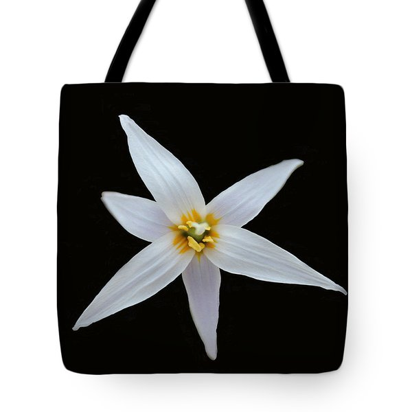 White Trout Lily Tote Bag