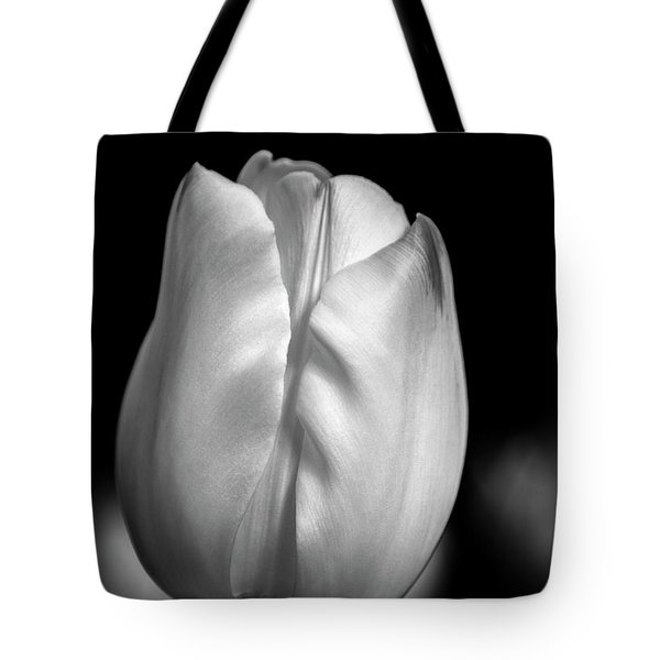 Tote Bag featuring the photograph White Tulip by Chris Scroggins