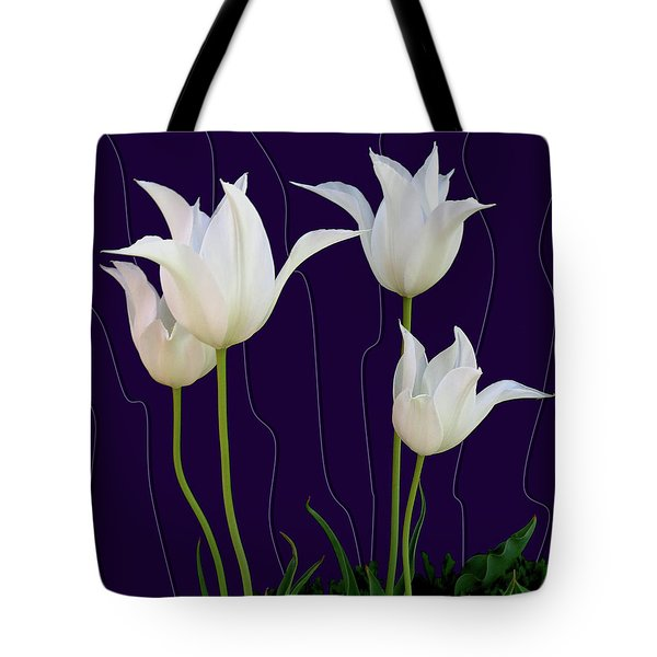 White Tulips For A New Age Tote Bag
