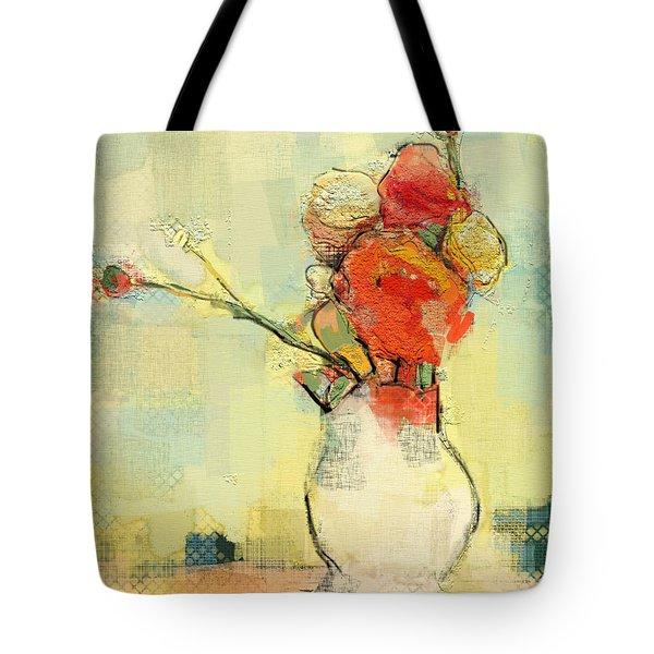 White Vase Tote Bag