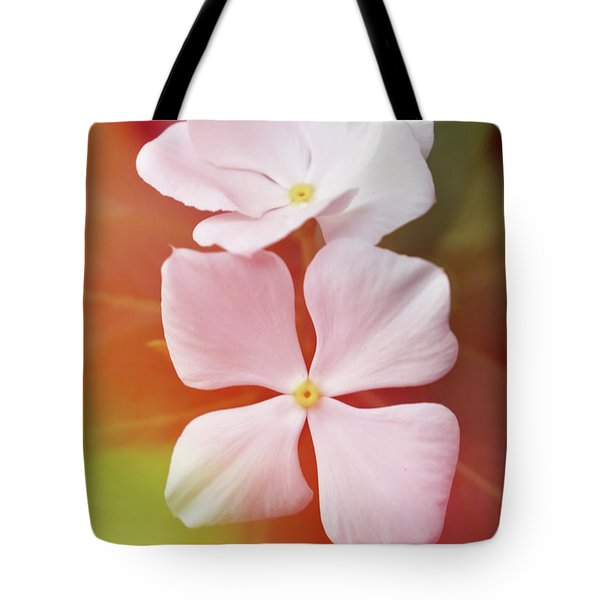 White Vinca With Vivid Highligts  Tote Bag