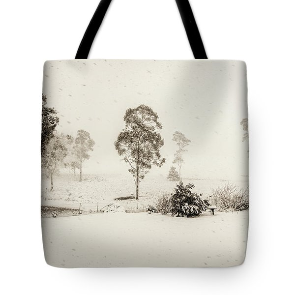 White Washed Tote Bag