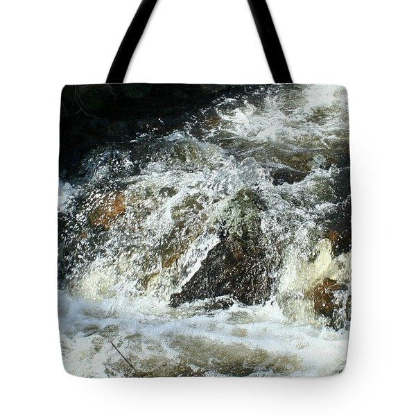 Tote Bag featuring the digital art White Water by Barbara S Nickerson