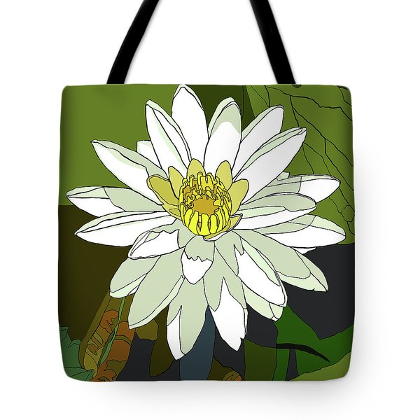 White Water Lily Tote Bag by Jamie Downs