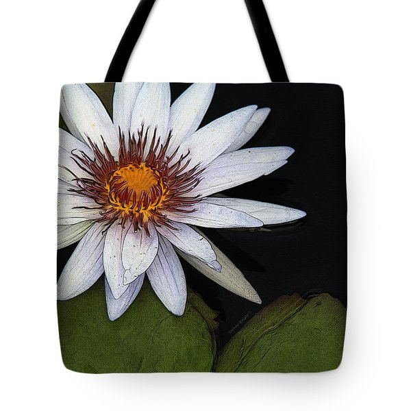 White Water Lily Tote Bag by Yvonne Wright