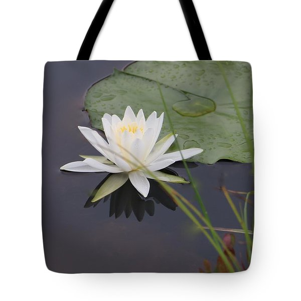 White Water Lotus Tote Bag