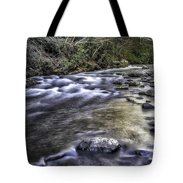 White Water Tote Bag