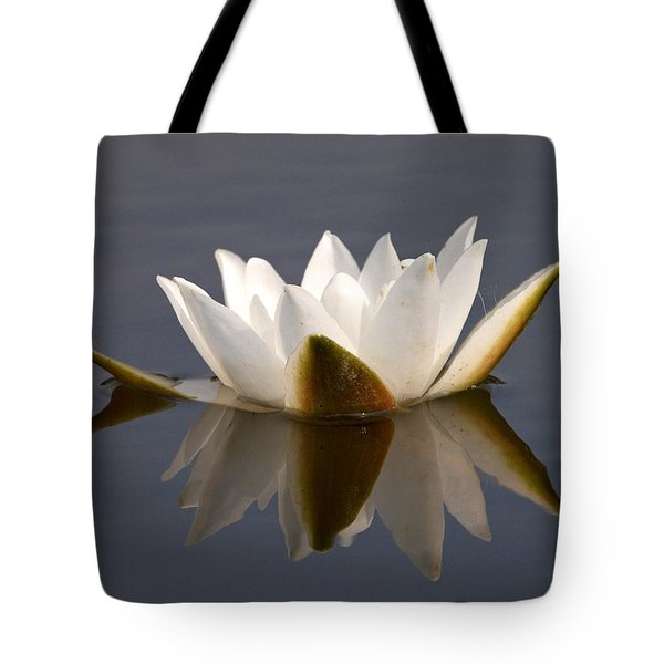 Tote Bag featuring the photograph White Waterlily 2 by Jouko Lehto