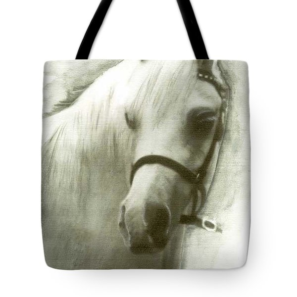 White Welsh Pony Tote Bag