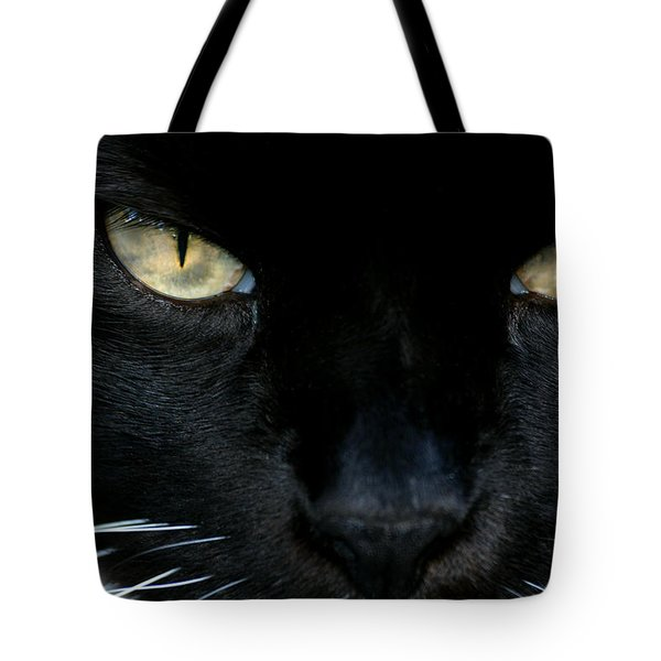 White Whiskers Tote Bag