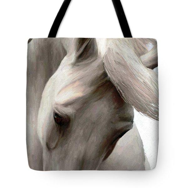 White Whisper Tote Bag