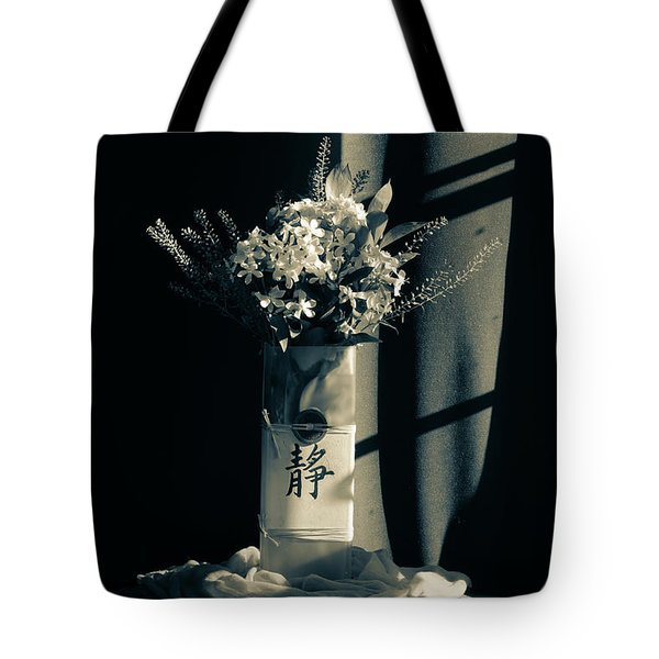 White Wildflowers In June Tote Bag by Wendy Blomseth