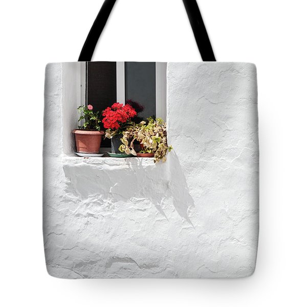 White Window Tote Bag