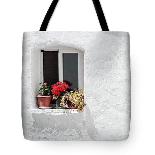 White Window Tote Bag