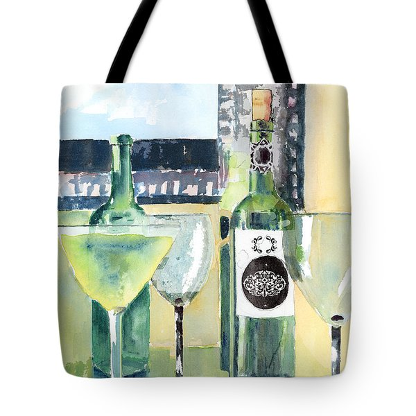 White Wine Tote Bag by Arline Wagner