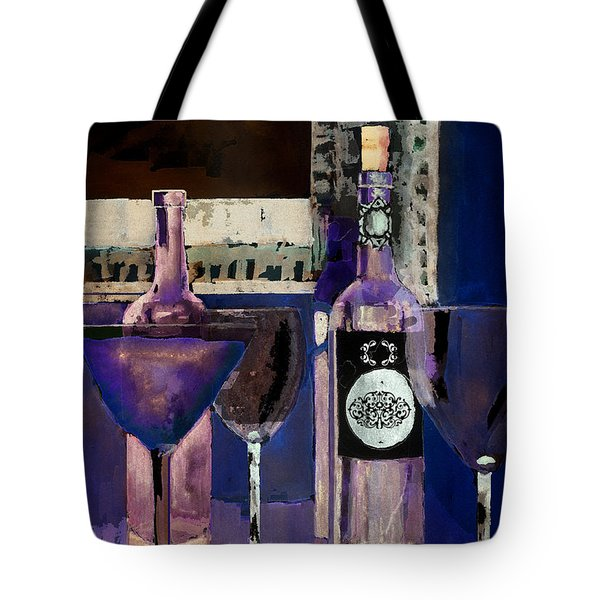 White Wine Inverted Tote Bag by Arline Wagner