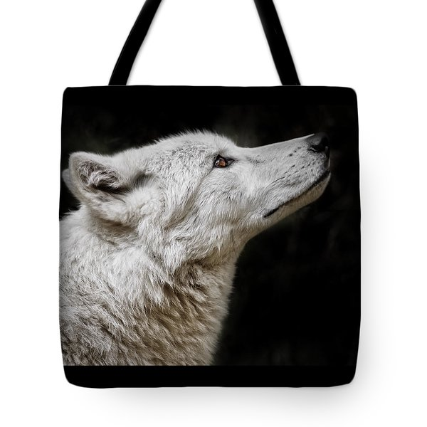 White Wolf Tote Bag