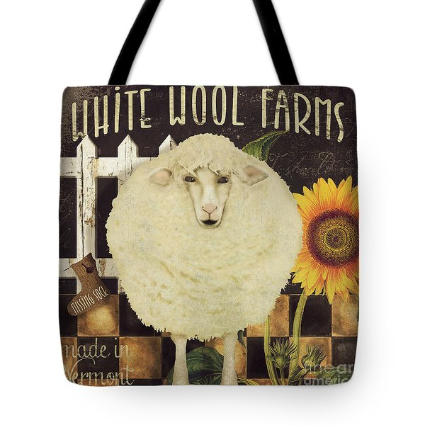 White Wool Farms Tote Bag by Mindy Sommers