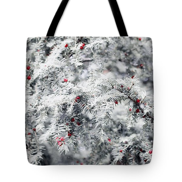 Tote Bag featuring the photograph White Yew by Helga Novelli