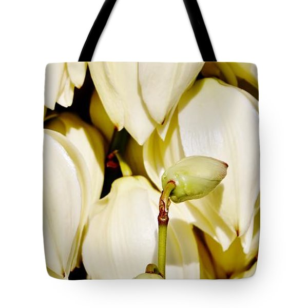 white Yucca flowers Tote Bag