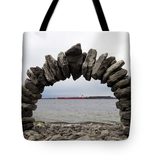 Whitefish Bay Under The Arch Tote Bag