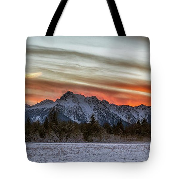 Whitehorse Sunset Panorama Tote Bag