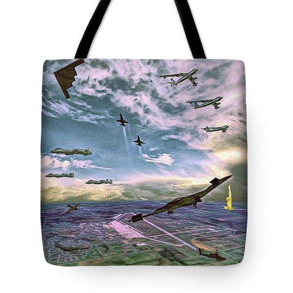 Whiteman Air Force Base Tote Bag by Dave Luebbert
