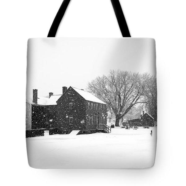 Whiteout At Strawbery Banke Tote Bag