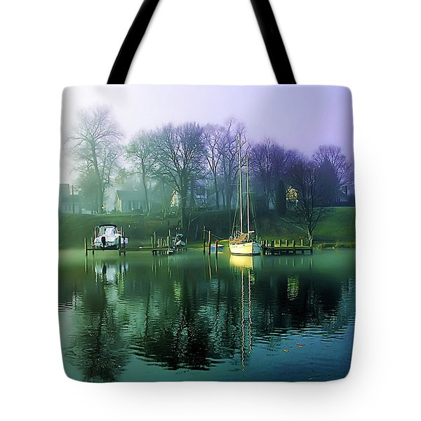 Tote Bag featuring the photograph White's Cove Awakening by Brian Wallace