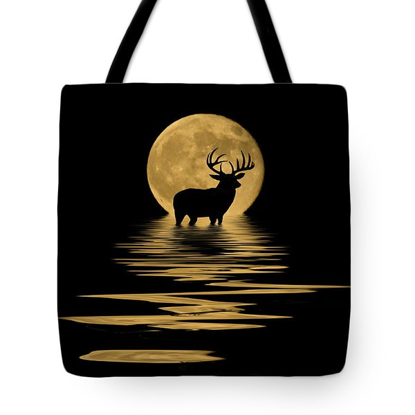 Whitetail Deer In The Moonlight Tote Bag