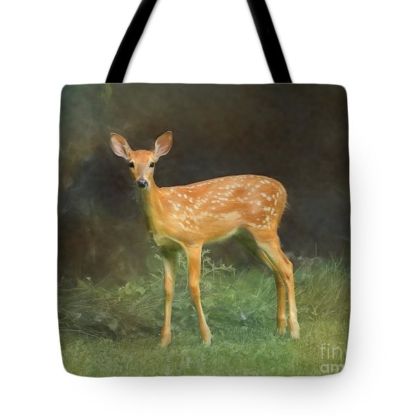 Whitetail Deer Spotted Fawn Tote Bag
