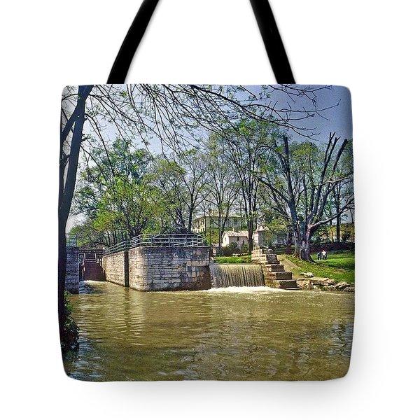 Whitewater Canal Metamora Indiana Tote Bag