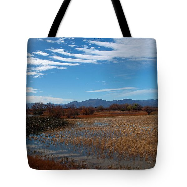 Tote Bag featuring the photograph Whitewater Draw by James Peterson
