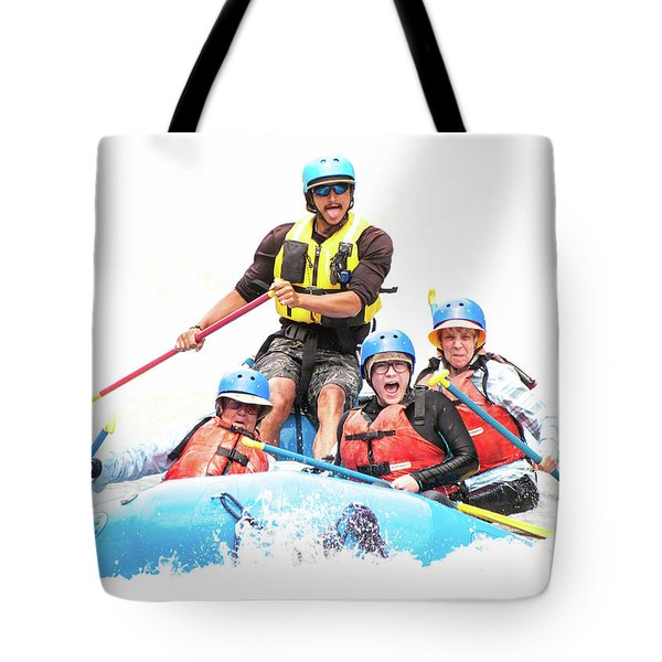 Tote Bag featuring the photograph Whitewater Faces by Britt Runyon