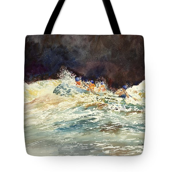 Whitewater Raftingon The Menominee Tote Bag