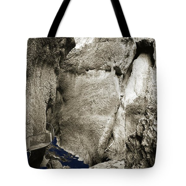 Whitewater Too Blu Tote Bag