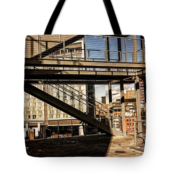 Whitney Terrace Grid Tote Bag
